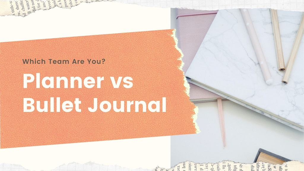 planner vs bullet journal